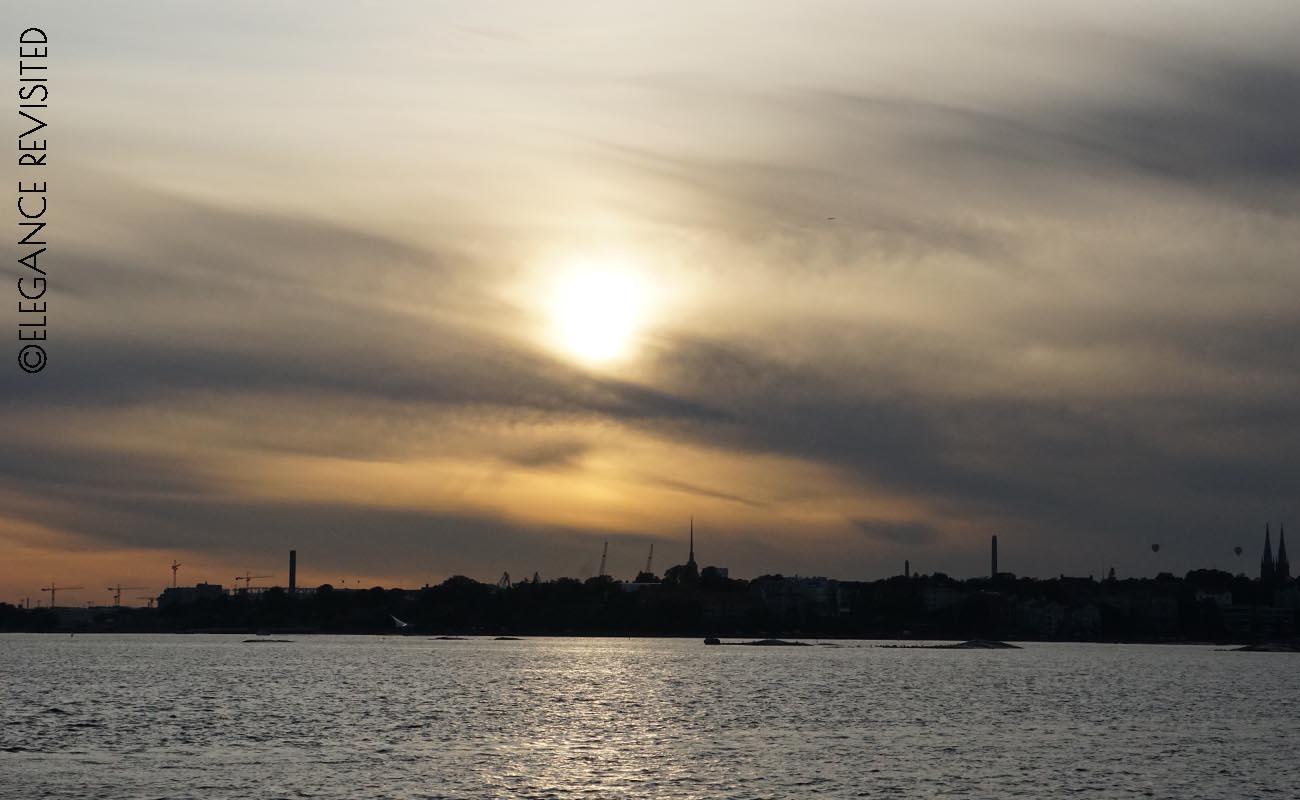 sunset in Helsinki