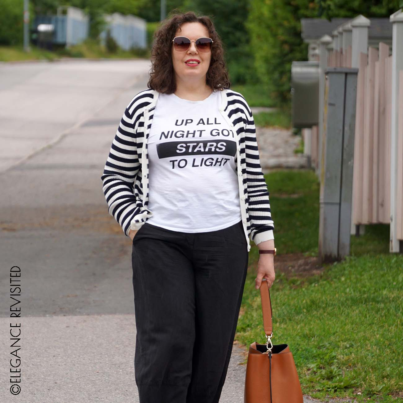 casual chic in black and white